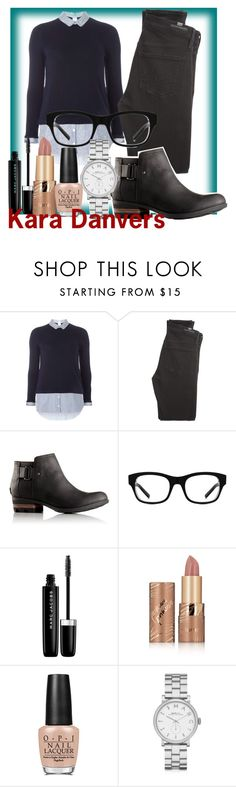 """""""Kara Danvers"""" by geekyandnerdyfashion ❤ liked on Polyvore featuring Dorothy Perkins, Citizens of Humanity, SOREL, Smith Optics, Marc Jacobs, tarte, OPI and Marc by Marc Jacobs"""