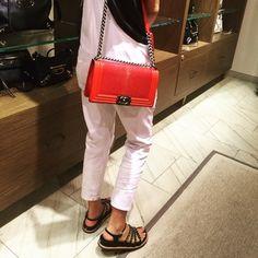 Chanel Boy Stingray Shoulder Bag