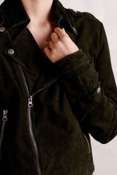 Washed Suede Moto Jacket by Jakett | Pinned by topista.com