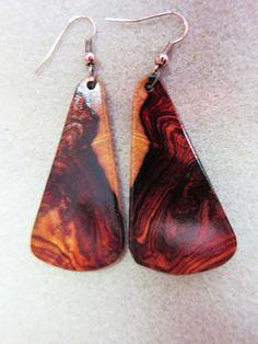 Rare Khamphi Rosewood Exotic Wood Earrings by ExoticWoodJewelryAnd