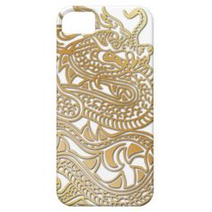 Gold Faux Metallic Chinese Dragon Phone Case 2