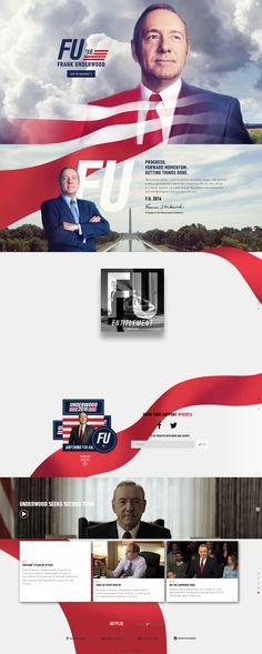 Frank-Underwood-2016---Anything-for-America #webdesign #material #inovation #2016 #frank #underwood #houseofcards