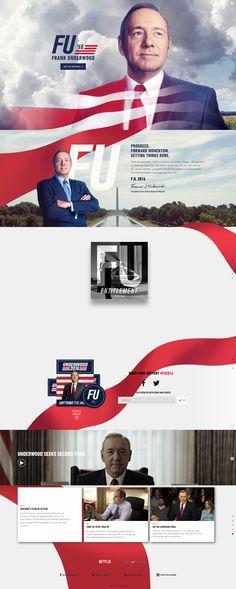 Frank-Underwood-2016---Anything-for-America #webdesign #material #inovation #2016 #frank #underwood #houseofcards
