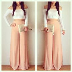 .@heyitsannabanana | Maxi pants and crop top from @DAILYLOOK @DAILYLOOK  Get yours at www.dailylo... | Webstagram - the best Instagram viewer