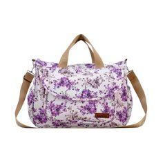 Classic Lavender Floral  6pc Diaper Bag Set, 3% discount @ PatPat Mom Baby Shopping App