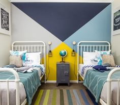 shared bedroom boy and girl decorating ideas-17