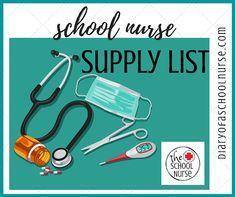 Diary Of A School Nurse: School Nurse Supply List- I love a good list! Nurse Office Decor, School Nurse Office, Np School, Nursing School Graduation, Nursing School Tips, School Nurse Organization, Ob Nursing, Nursing Schools, Nursing Students