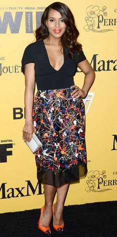 Look of the Day - June 12, 2014 - Kerry Washington in Sportmax from #InStyle
