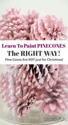 Learn The Right Way To Paint Pinecones! How to paint pinecones the right way! Pinecones are free, so definitely budget friendly. We are showing you the best and fastest way to paint your pine cones with a video included as well. cones Source by shabbyfufu Fall Crafts, Holiday Crafts, Christmas Diy, Diy And Crafts, Nature Crafts, Christmas Pine Cones, Handmade Christmas, Budget Crafts, Summer Crafts