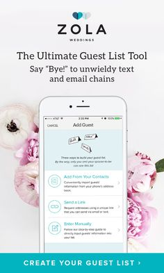 "Get addresses, address invitations, manage RSVPs, communicate with your guests and more... all for free. Say ""Bye!"" to unwieldy text and email chains."