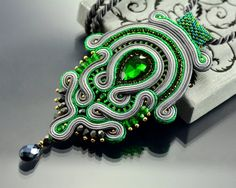 Hey, I found this really awesome Etsy listing at https://www.etsy.com/ru/listing/230348927/soutache-pendant-green-pendant-green-and