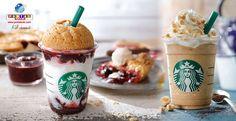 Que tal um frappuccino com torta de cereja ou um de chá clássico? Saiba mais!