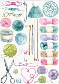 Sewing Art, Sewing Crafts, Crochet Projects, Sewing Projects, Sewing Essentials, Collage, Vintage Sewing, Vintage Clip, Knitting Patterns
