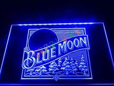 Blue Moon Beer Bar Pub Logo LED Neon Light Sign home decor shop crafts #Unbranded #Modern