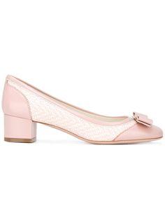Shop Salvatore Ferragamo heeled ballerina shoes.
