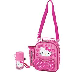 ec00ef952 Sanrio Hello Kitty Insulated Lunch Bag with Bottle Pink -- To view further  for this item, visit the image link.(It is Amazon affiliate link) #texas