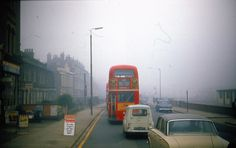 Morning rush hour on a misty day along Woolwich Road, Charlton. London History, Local History, Charlton London, Rt Bus, Eltham Palace, Tennis Nets, Misty Day, London Bus