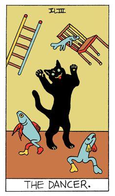 Tarot Decks, Aesthetic Art, Tarot Cards, Cat Art, Art Inspo, Graphic Illustration, Painting & Drawing, Collages, Retro
