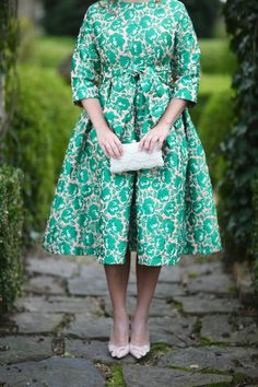 Modest Fashion   Modest Fashion   Modest Bridesmaid Dresses   Green and Blush Blissful Garden Dress by Dainty Jewell's