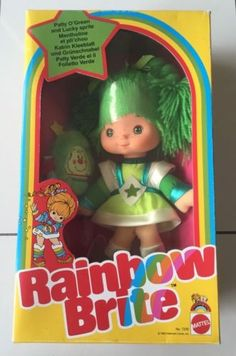 #Vintage 1983 mattel #rainbow #brite patty o green doll rare nrfb mint,  View more on the LINK: http://www.zeppy.io/product/gb/2/291661733258/