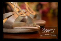Photo by Impressions Photo and Video http://impressionsphotoandvideo.com/#Photography #WeddingPhotography #NJWeddings #WeddingHeels #Stilettos #Closeup #ShoeDetails #JeweledShoes