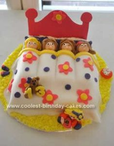 I made this Slumber Party Birthday Cake for my daughter's 11th birthday sleepover party. I used a combination of ideas I found here, as well as making