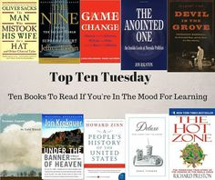 500 Books: Top Ten Books To Read If You're In The Mood for Learning