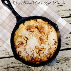 Oven Baked Dutch Apple Pancake is the perfect breakfast or brunch dish for a cool fall morning from www.bobbiskozykitchen.com
