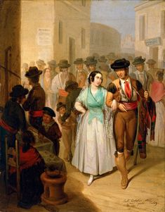 Angel María Cortellini Hernández. Salida de la plaza..1847. Museo Carmen Thyssen Málaga
