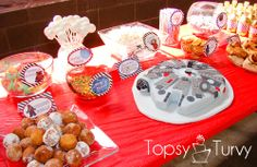 star wars party food | lego star wars birthday party food table and cake