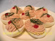 Šunková pěna s vejci Snacks, Desserts, Ideas, Tailgate Desserts, Appetizers, Deserts, Postres, Dessert, Thoughts