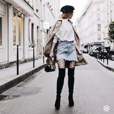 2,530 отметок «Нравится», 26 комментариев — Jane Aldridge (@seaofshoes) в Instagram: «I can't resist tall black boots and long trench coats, especially when in Paris! Screenshot for…»