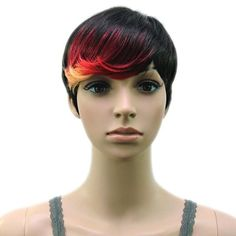 Synthetic Muti Color High Temperature Fiber Woman Hair Wig 4 Colors Available