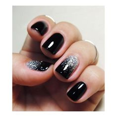 90+ Beautiful Glitter Nail Designs to Make You Look Trendy and Stylish ❤ liked on Polyvore featuring beauty products and nail care