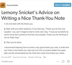 Writing good thank-you notes