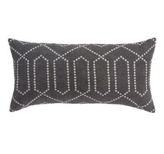 DOTTED TRELLIS CHARCOAL PILLOW  from Dwell Studio (12x24) $62 #pillow #dwell
