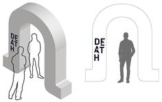 Death exhibition: entrance arch