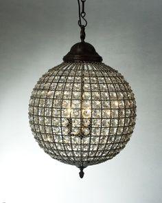 glam ceiling light
