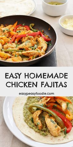 These Easy Homemade Chicken Fajitas are tastier and healthier than a meal kit and almost as easy! A delicious, family friendly meal that's ready in just 15 minutes. #fajitas #chicken #chickenfajitas #homemadefajitas #homemadechickenfajitas #winnerwinnerchickendinner #easyfajitas #easyhomemadefajitas #onepot #onepotdinner #glutenfree #dairyfree #easyentertaining #easymidweekmeals #easymeals #midweekmeals #easydinners #dinnertonight #dinnertonite #familydinners #familyfood #easypeasyfoodie #cookbl Lunch Box Recipes, Easy Dinner Recipes, Healthy Comfort Food, Healthy Meals, Midweek Meals, Chicken Fajitas, Yum Yum Chicken, Kid Friendly Meals, Family Meals