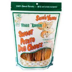 Amazon.com: Sam's Yams Veggie Rawhide Sweet Potato Dog Treats, 1-Pound: Pet Supplies