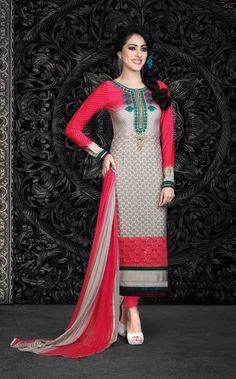 New collection of foil printed with chiffon dupatta salwar suit