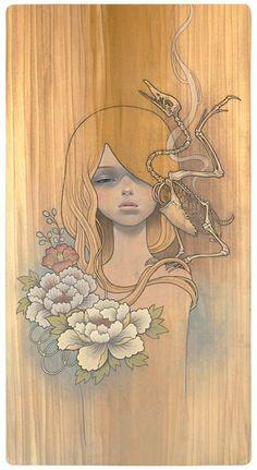 Hakuchou no Shi  #audreykawasaki #ilustration