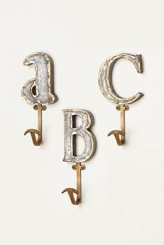 Marquee letter hooks