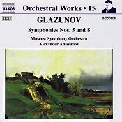 John J. Puccio at Classical Candor reviews Glazunov: Symphonies Nos. 5 & 8, with Alexander Anissimov and the Moscow Symphony on a Naxos CD.
