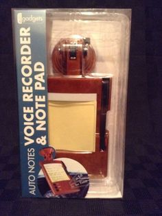 NIB Auto Notes Voice Recorder & Notepad Car Hands Free #AutoGadgets