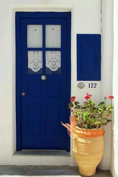 Aegean house door