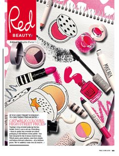 Another EXCELLENT idea from Red magazine...Photography + illustration