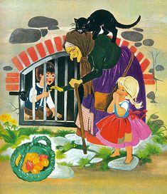 Mehrfach illustrierte die Illustratorin Felicitas Kuhn das Märchen Hänsel und Gretel. Dabei ist unklar, in welcher chronologischen Reihenfolge die Illustrationen als Einzelausgaben bzw. innerhalb verschiedener Sammelbände erschienen. Illustrator, Hansel Y Gretel, Design Comics, Cute Fairy, Vintage Fairies, Fairytale Art, Story Characters, Stories For Kids, Children's Book Illustration