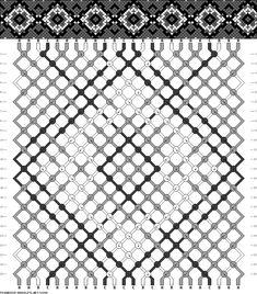 Muster # 91846, Streicher: 24 Zeilen: 24 Farben: 3