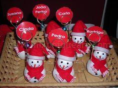 Natal. Marcadores de mesa em massa de moldar.